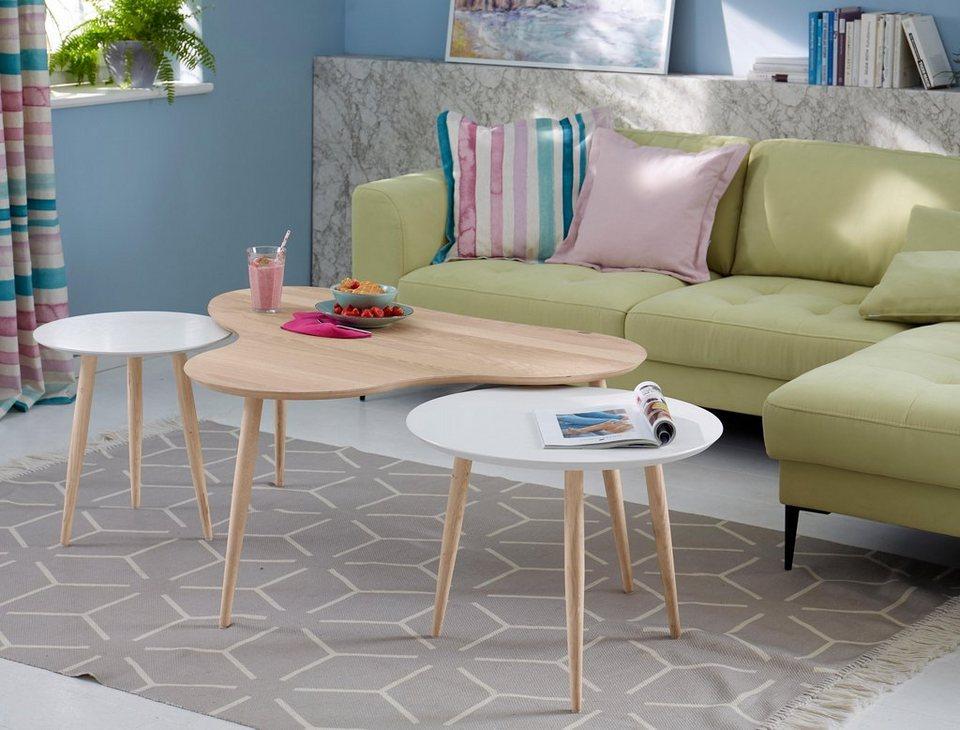 gmk home living couchtisch calluna mit elegant geschwungener tischplatte in modernem design. Black Bedroom Furniture Sets. Home Design Ideas