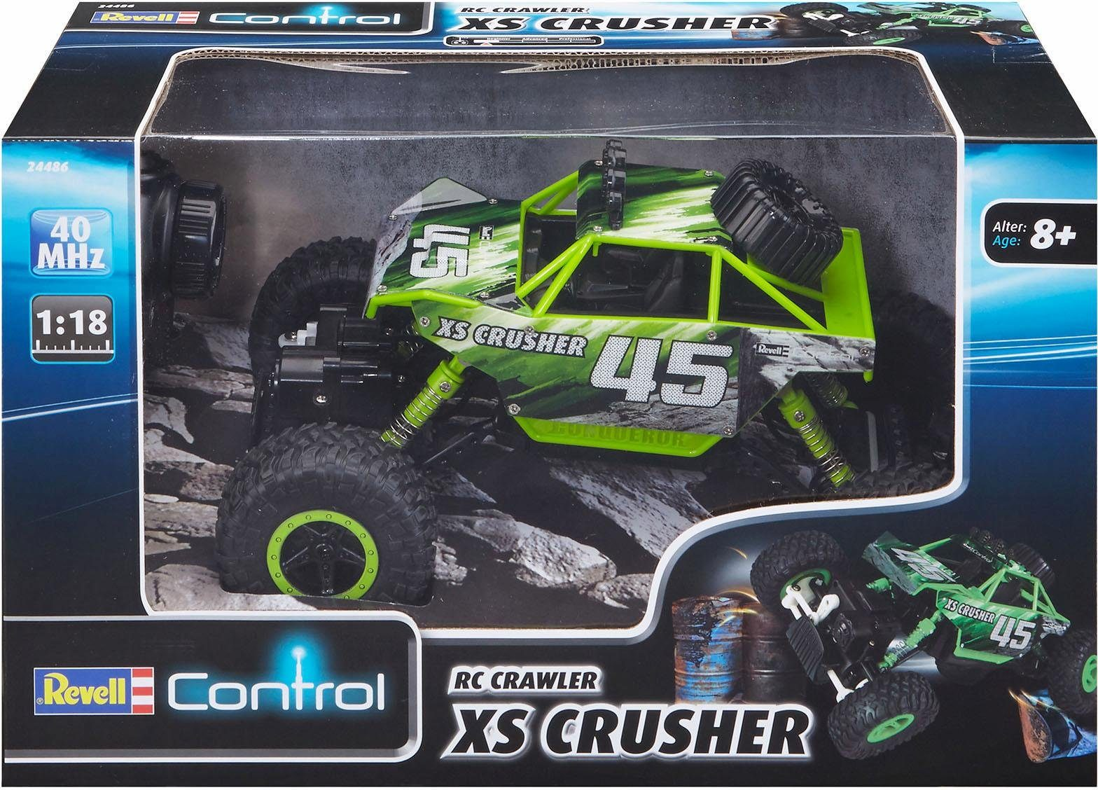 Revell RC Auto, »Revell® control, RC Crawler XS Crusher, 40 MHz, 1:18«