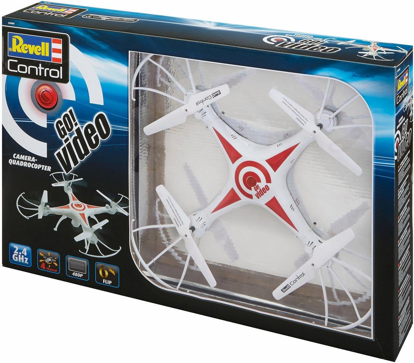 Revell RC Quadrocopter mit Kamera, »Revell® control, Go! Video, 2,4 GHz«