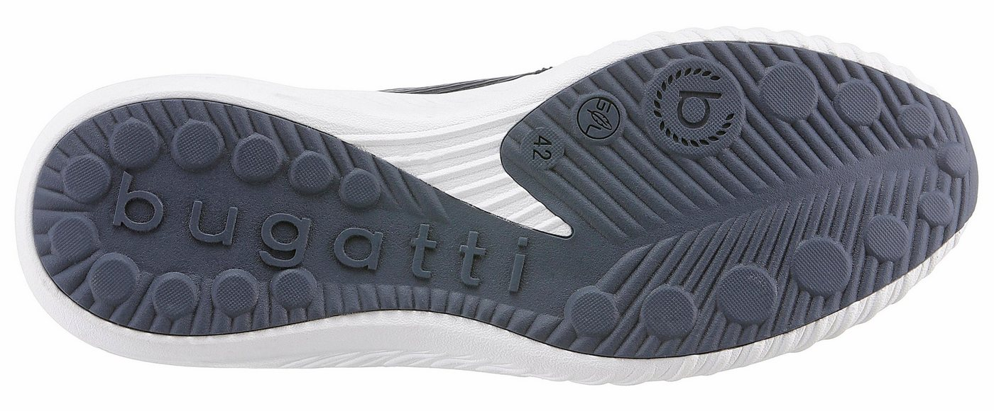 Herren Bugatti Sneaker im trendigen Knitwear-Look blau   07613146001478