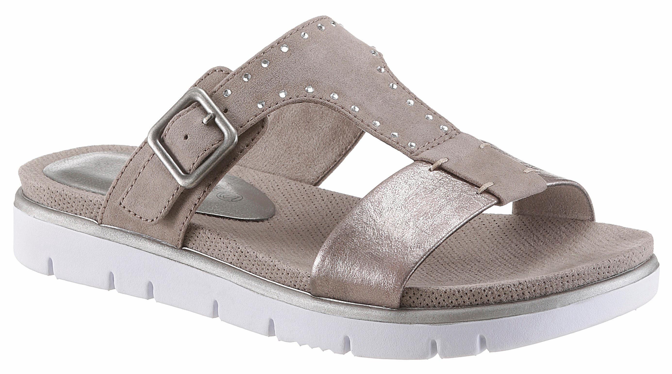 Jana Pantolette, in bequemer Schuhweite H (sehr weit) online kaufen  taupe