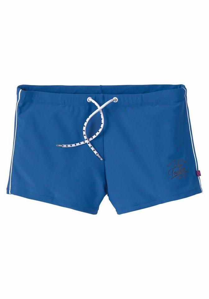 Tom Tailor Boxer-Badehose mit kontrastfarbenen Details | Bekleidung > Bademode > Boxerbadehosen | Blau | Elasthan | Tom Tailor
