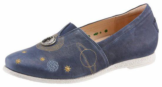 Think! Slipper, mit Sonne, Mond und Sterne - Applikation