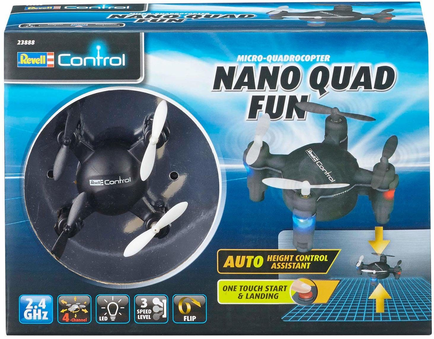 Revell RC Quadrocopter, »Revell control, Nano Quad Fun, schwarz, 2,4 GHz« jetztbilligerkaufen