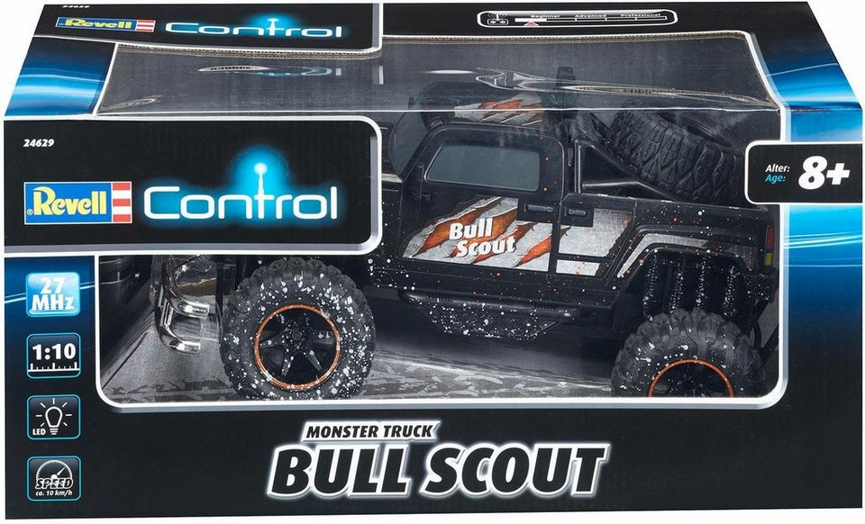 revell rc auto revell control rc monster truck bull. Black Bedroom Furniture Sets. Home Design Ideas