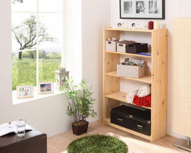 Ticaa Standregal, in 3 Höhen von 92 - 132 cm, Kiefer | Kinderzimmer > Kinderzimmerregale | Ticaa