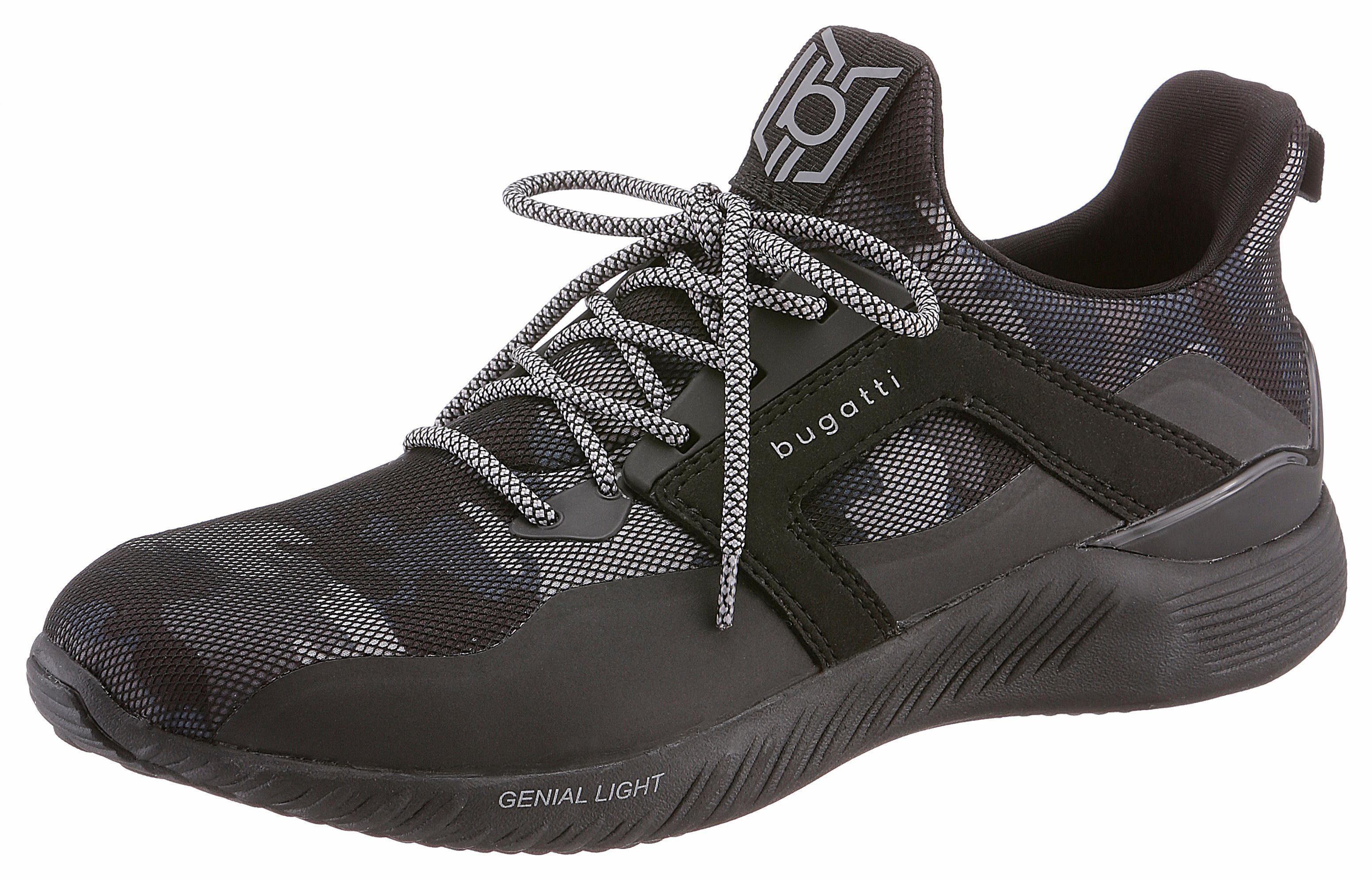 Bugatti Sneaker, mit Genial Light-Funktion, schwarz, 44 44