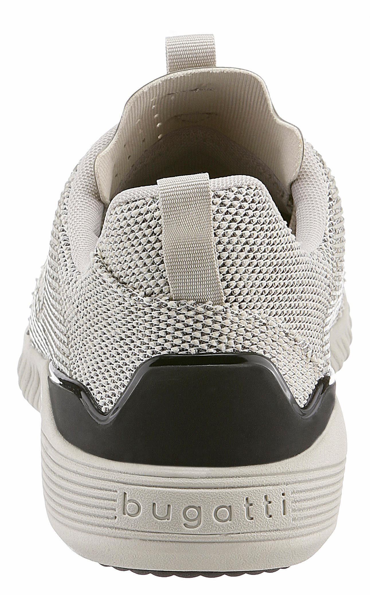 Bugatti Sneaker, im trendigen Knitwear-Look kaufen  beige