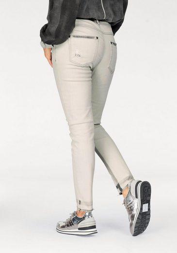 Monari Destroyed-Jeans, mit Paillettendetails