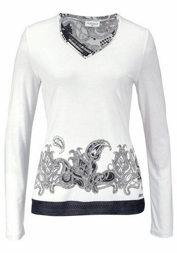 Sportalm Kitzbühel Langarmshirt, mit angesagtem Paisleyprint