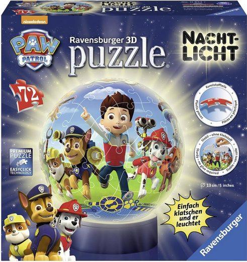 Ravensburger Puzzleball »Nachtlicht Paw Patrol«, 72 Puzzleteile, mit Leuchtmodul inkl. LEDs