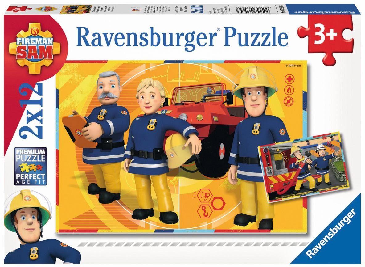Ravensburger Puzzle, 2x12 Teile, »Sam im Einsatz«