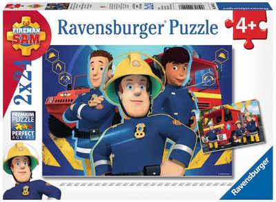 Ravensburger Puzzle »Feuerwehrmann Sam, Sam hilft in der Not«, 48 Puzzleteile, Made in Europe, FSC® - schützt Wald - weltweit