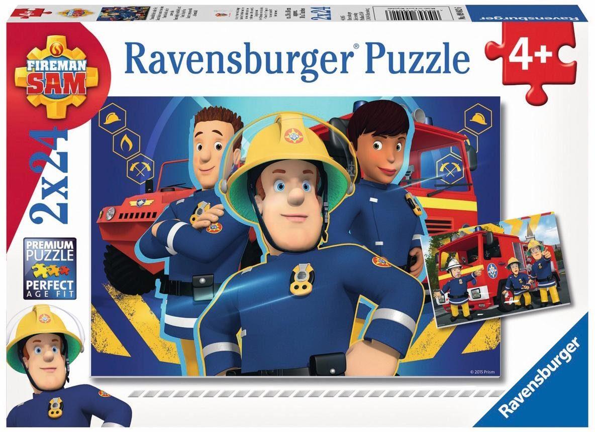 Ravensburger Puzzle, 2x24 Teile, »Sam hilft in der Not«