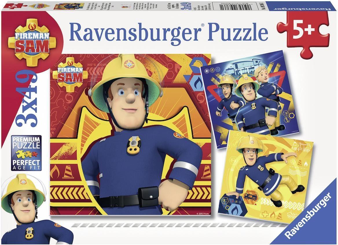 Ravensburger Puzzle, 3x49 Teile, »Bei Gefahr Sam rufen«