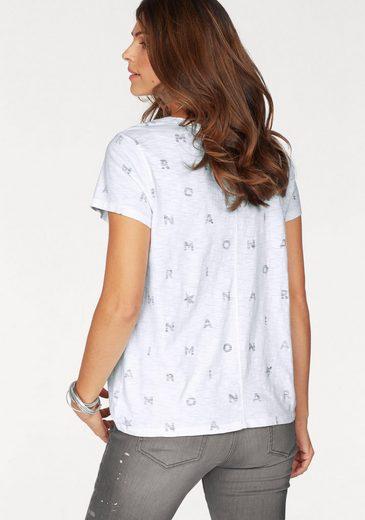 Monari T-Shirt, mit aufregendem Paillettenschriftzug