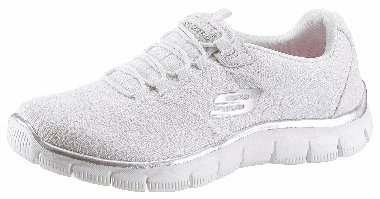 Skechers Empire - Spring Glow Slip-On Sneaker, mit dezenten Metallic-Einsätzen online kaufen  weiß-silberfarben