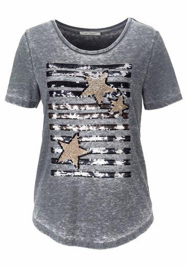 Monari T-Shirt, mit tollen Paillettendetails