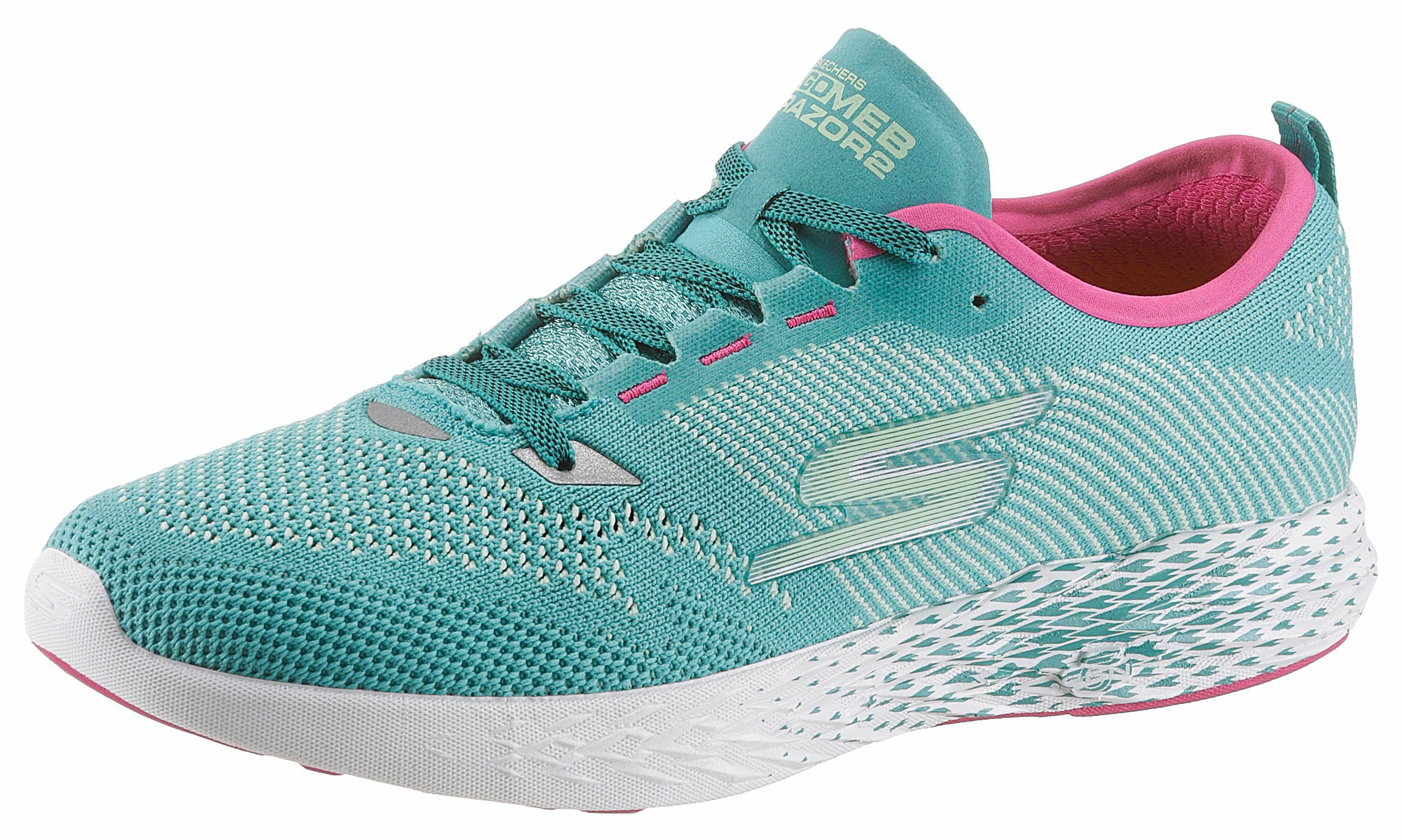 SKECHERS PERFORMANCE Go Meb Razor 2 Sneaker, in Strick-Optik online kaufen  türkis-pink