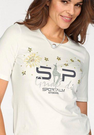 Sportalm Kitzbühel T-Shirt, mit tollen Perlendetails
