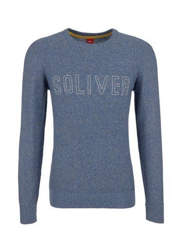 s.Oliver RED LABEL Melierter Strickpullover mit Stitching