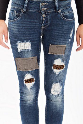 Blue Monkey Boyfriend-jeans Celine 1620, Mit Vielen Patches
