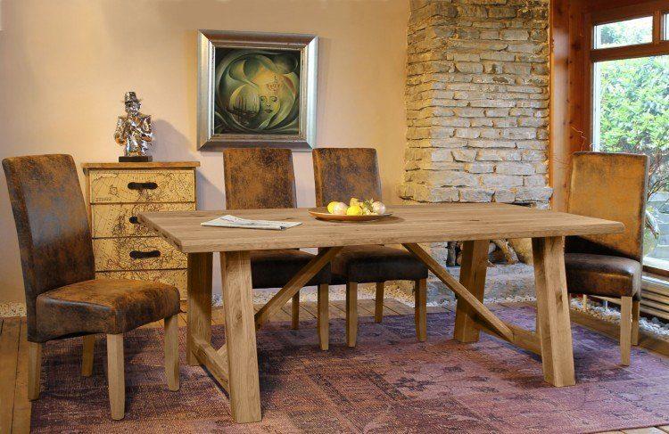 SalesFever Tischgruppe 5-tlg. aus Wildeiche »Arko«