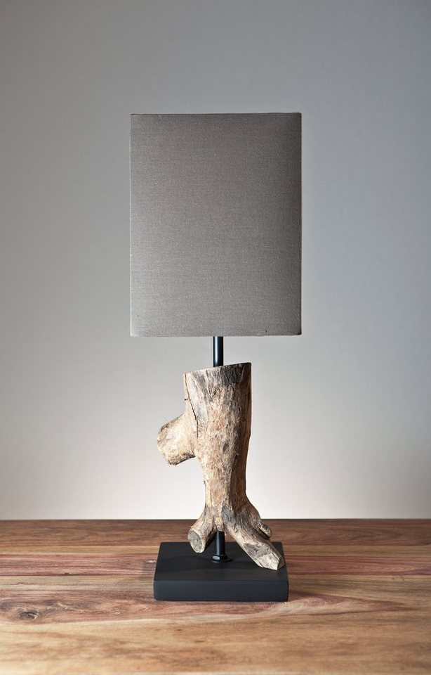 salesfever tischlampe mit braunem schirm nogaru otto. Black Bedroom Furniture Sets. Home Design Ideas