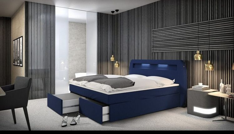 innocent boxspringbett mit led beleuchtung 180x200 cm mallira online kaufen otto. Black Bedroom Furniture Sets. Home Design Ideas