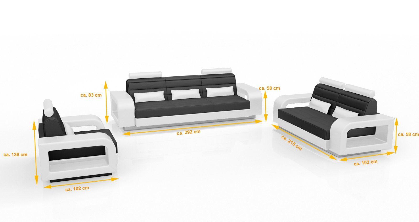 SalesFever Sofa Garnitur (3-tlg.) »Nediva«