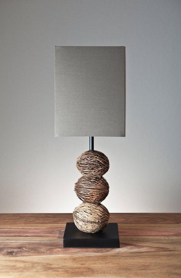 salesfever tischlampe mit braunem schirm irev otto. Black Bedroom Furniture Sets. Home Design Ideas