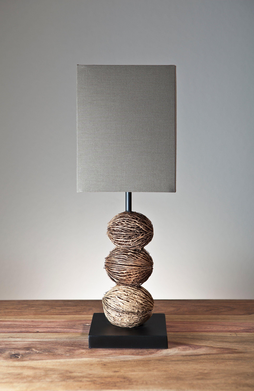 SalesFever Tischlampe mit braunem Schirm »Irev«