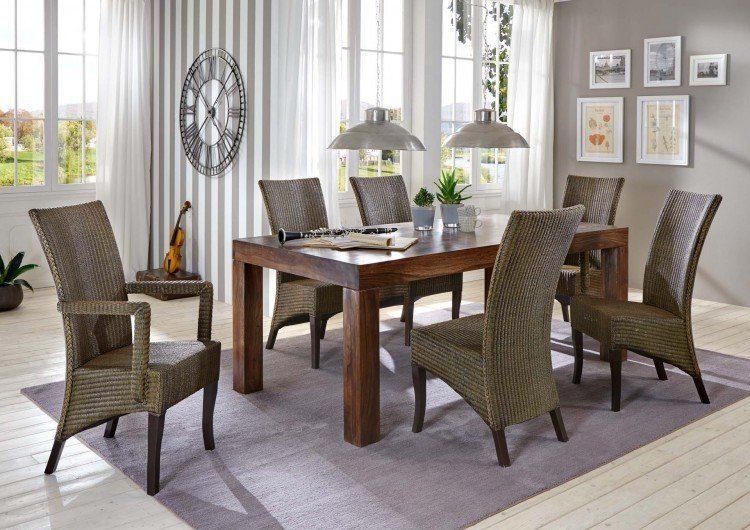 SalesFever Tischgruppe 7-tlg. mit Rattan Stühlen »Cosmo«