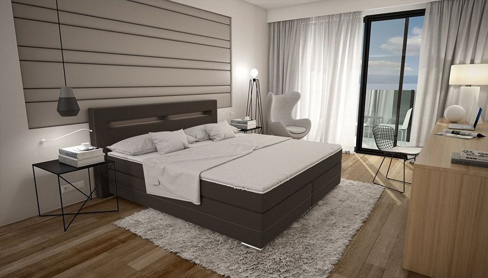innocent boxspringbett mit led beleuchtung 180x200 cm dalian online kaufen otto. Black Bedroom Furniture Sets. Home Design Ideas