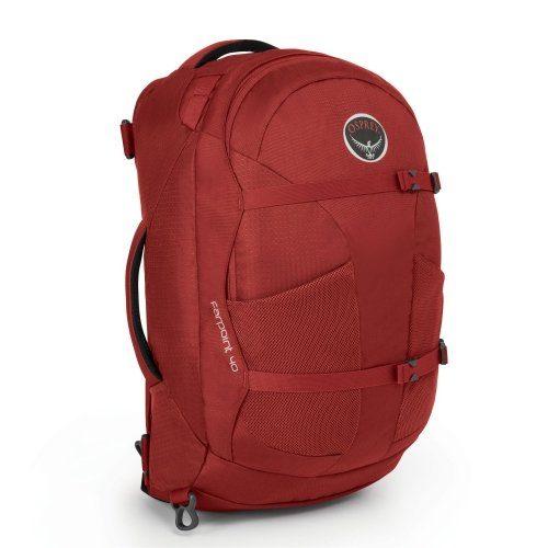 Unisex Osprey Rucksäcke »Farpoint 40 S/M« grau, rot   00845136029385