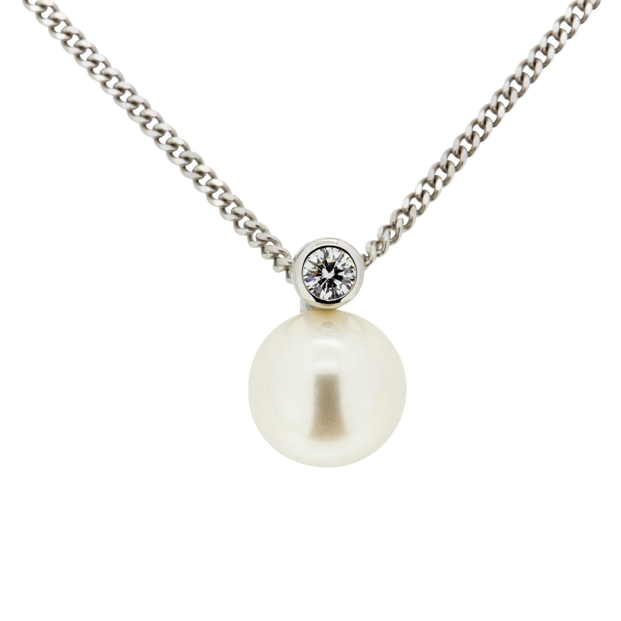 Orolino Anhänger mit Kette »585/- Weißgold Brillant + Perle«