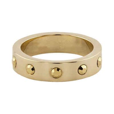 Buckley London Ring vergoldet mit Kristallen
