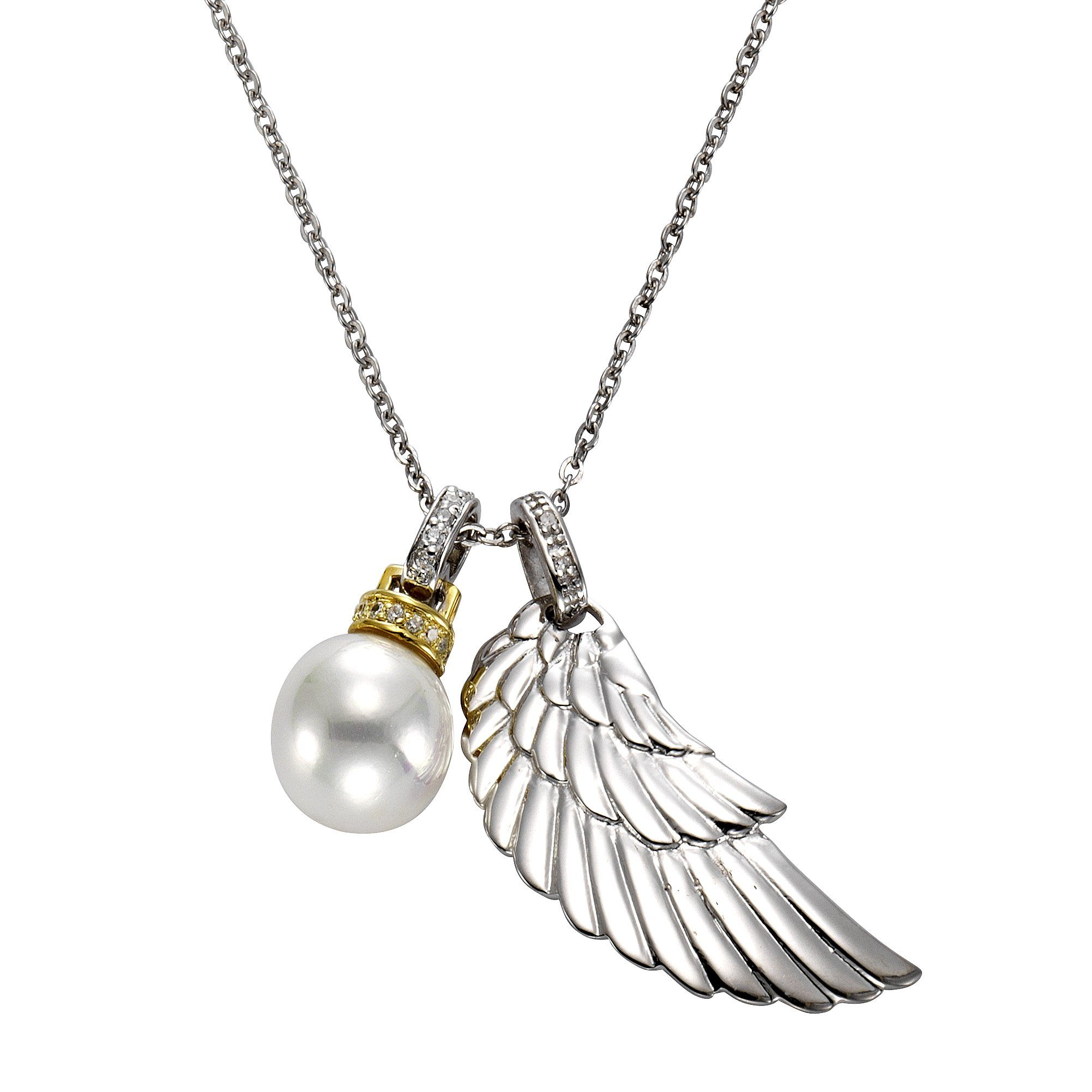 CELESTA Collier »925/- Silber 2x Diamant«
