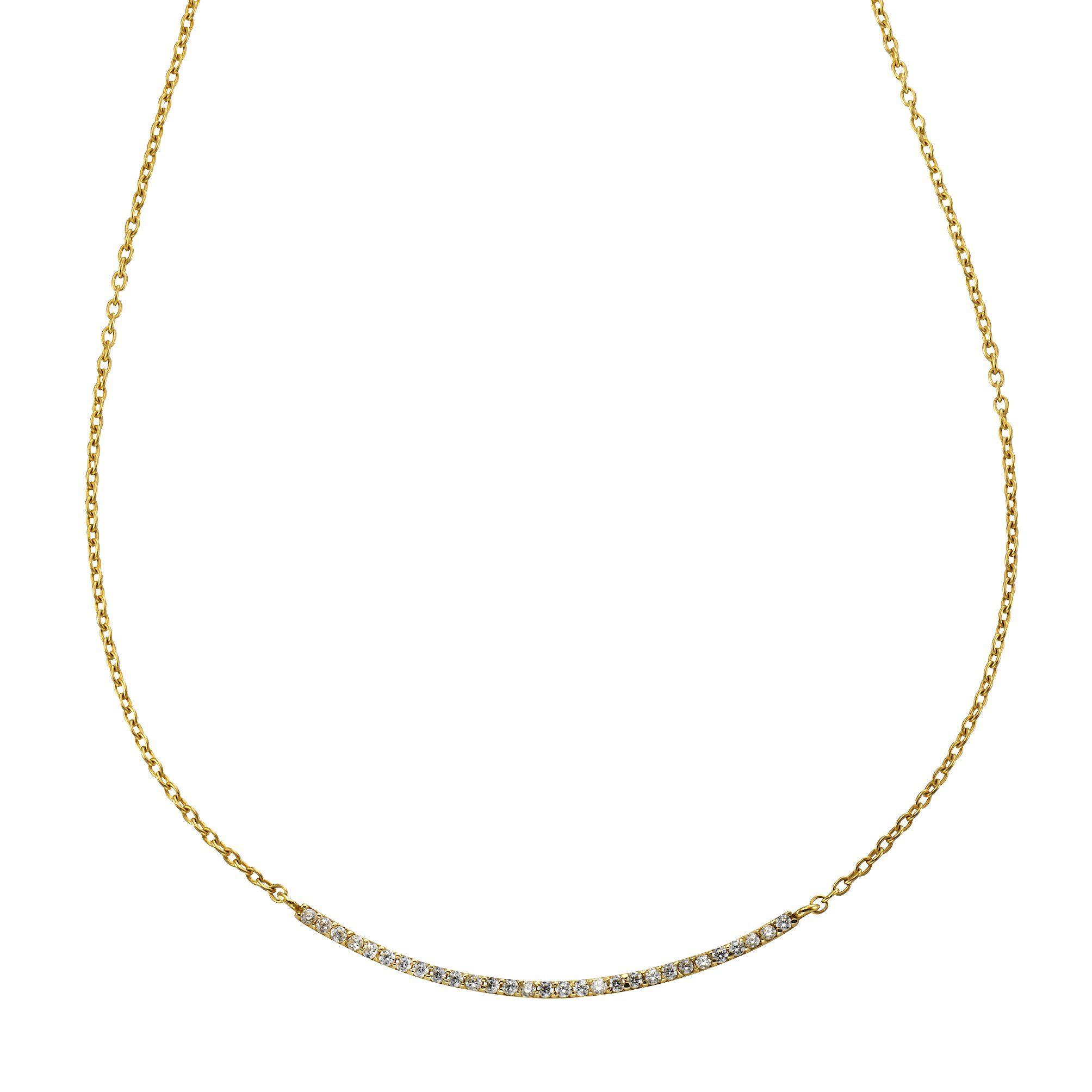 CELESTA Collier »375/- Gelbgold Zirkonia«