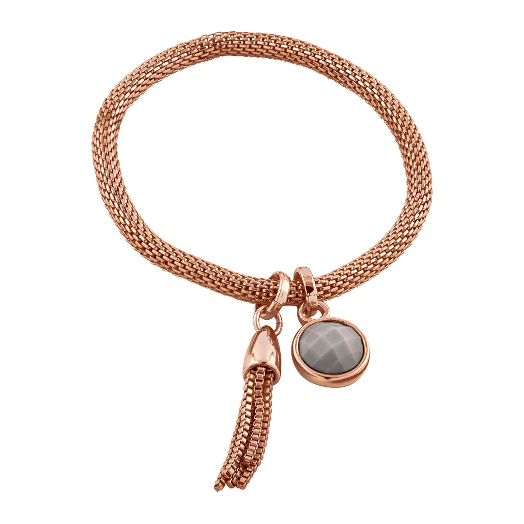Buckley London Armschmuck Messing rosévergoldet mit Achat