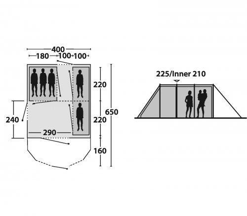 outwell zelte louisiana 5p ger umiger wohn und. Black Bedroom Furniture Sets. Home Design Ideas