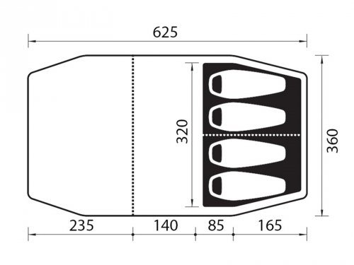 Nomad zelte bantu 4 air inkl zip boden kaufen otto for Boden zusammensetzung