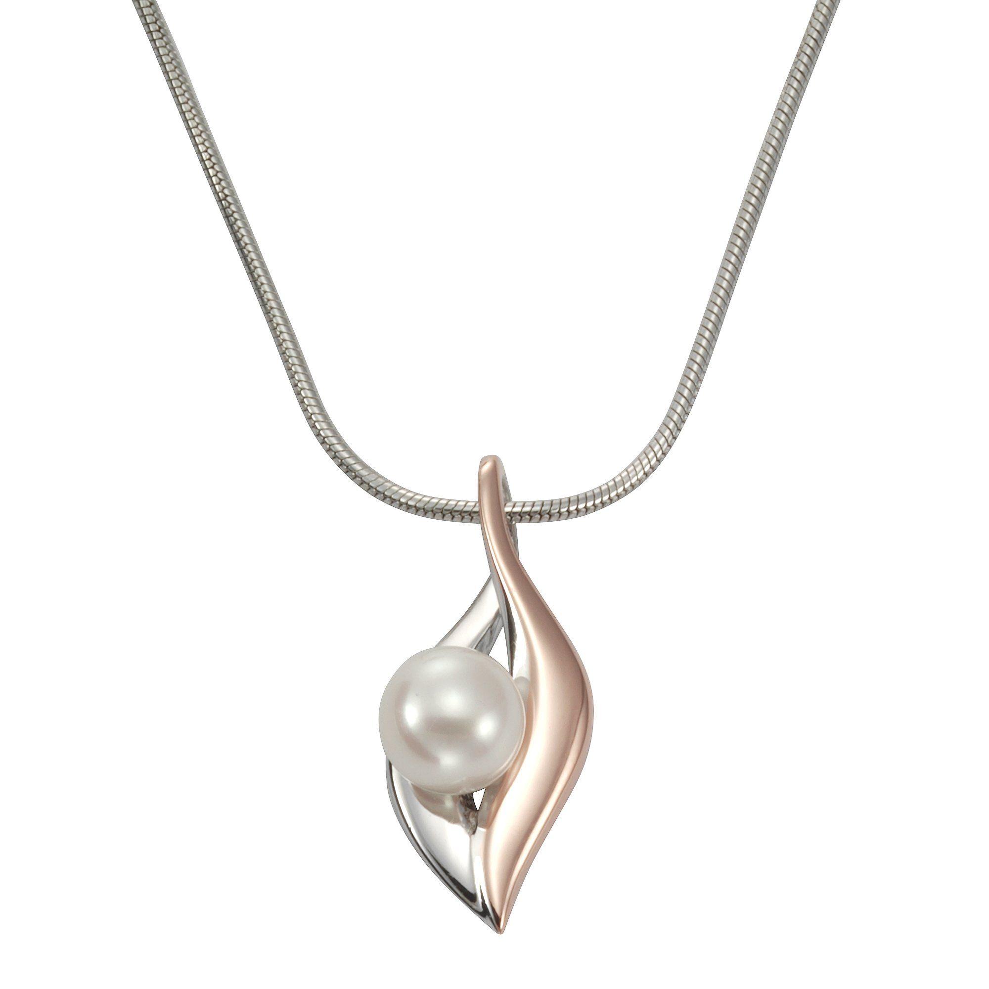Zeeme Anhänger mit Kette »925/- Sterling Silber rosévergoldet Perle«