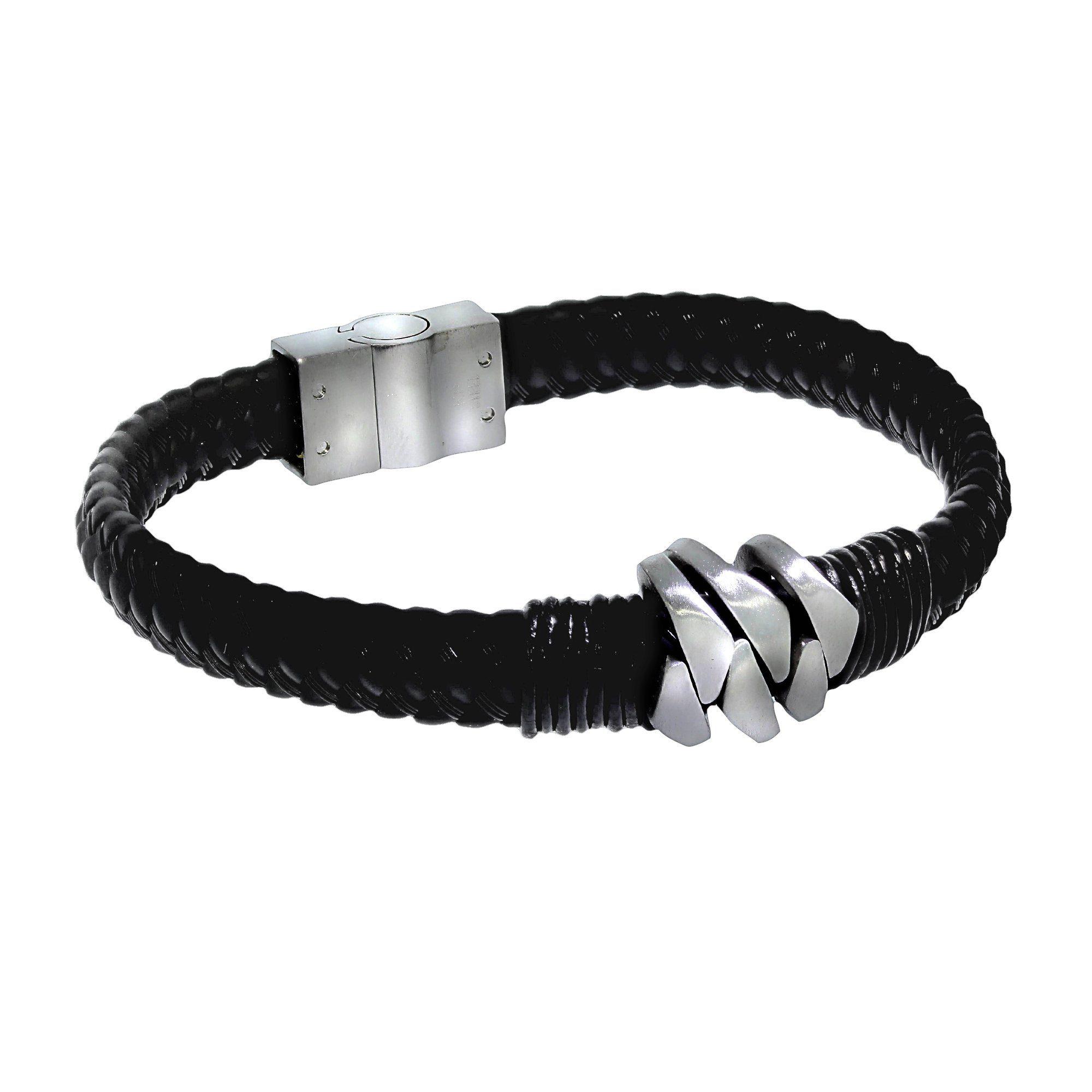 Zeeme Armband Lederband mit Edelstahlverschluß