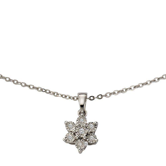 CELESTA Collier »925/- Silber 7x Diamant«