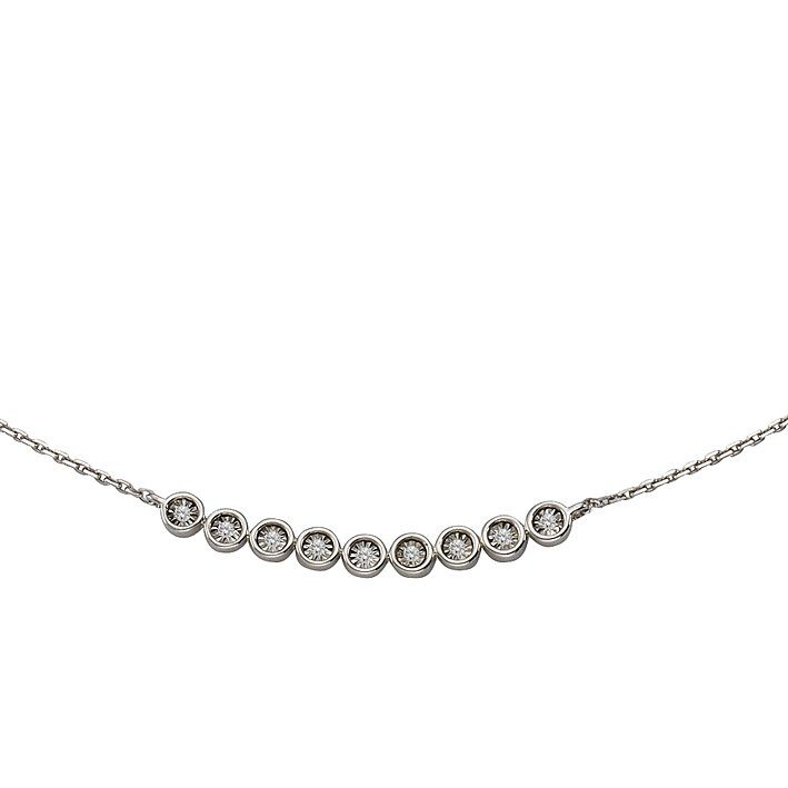 CELESTA Collier »925/- Silber 5x Diamant«