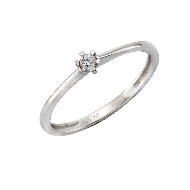 CELESTA Ring »925/- Silber 1x Diamant« | Schmuck > Ringe > Diamantringe | CELESTA