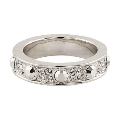 Buckley London Ring rhodiniert mit Kristallen