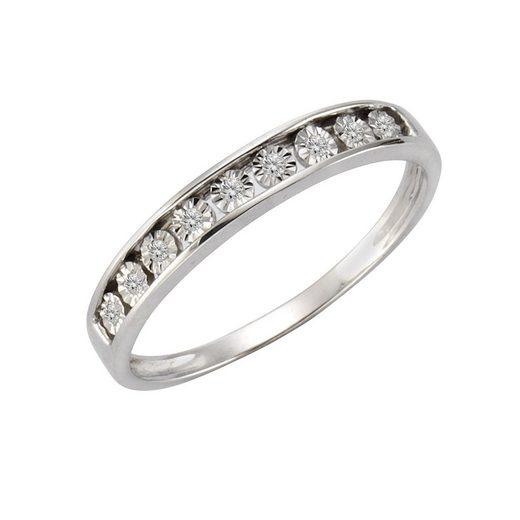 CELESTA Ring »925/- Silber 9xDiamant«