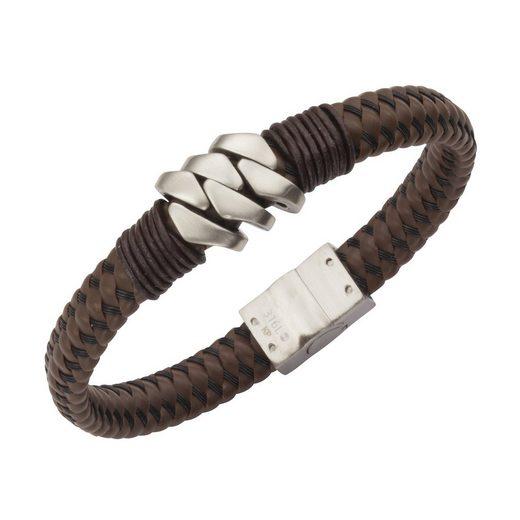 Zeeme Armband »Leder mit Edelstahlverschluß«